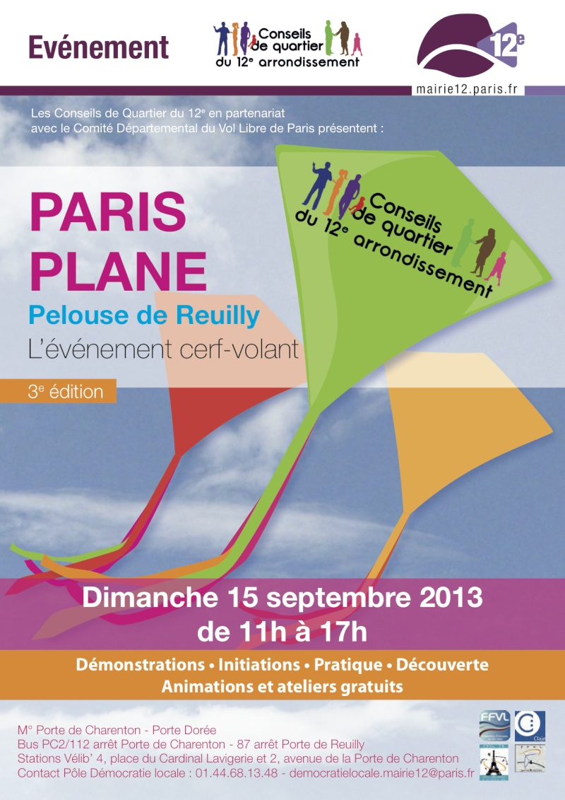 afficher le sujet dimanche 15 septembre pelouse de reuilly paris plane. Black Bedroom Furniture Sets. Home Design Ideas