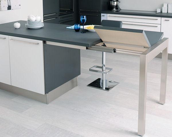 table ilot cuisine haute un lot de cuisine qui se suffit. Black Bedroom Furniture Sets. Home Design Ideas