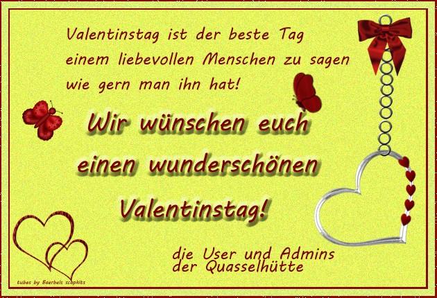 Valentinstagsgrüße Aus Der Quasselhütte