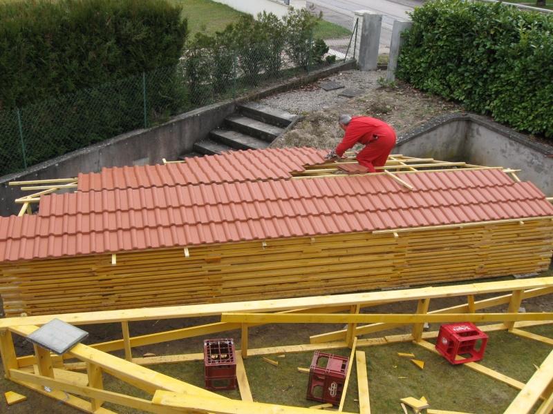 Construction d 39 un garage ossature bois - Fabrication d un garage ...