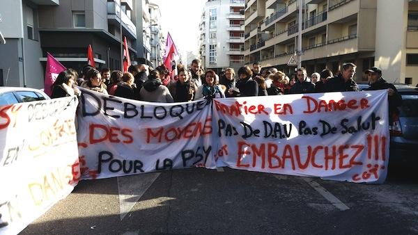 Mouvement de grève au Vinatier