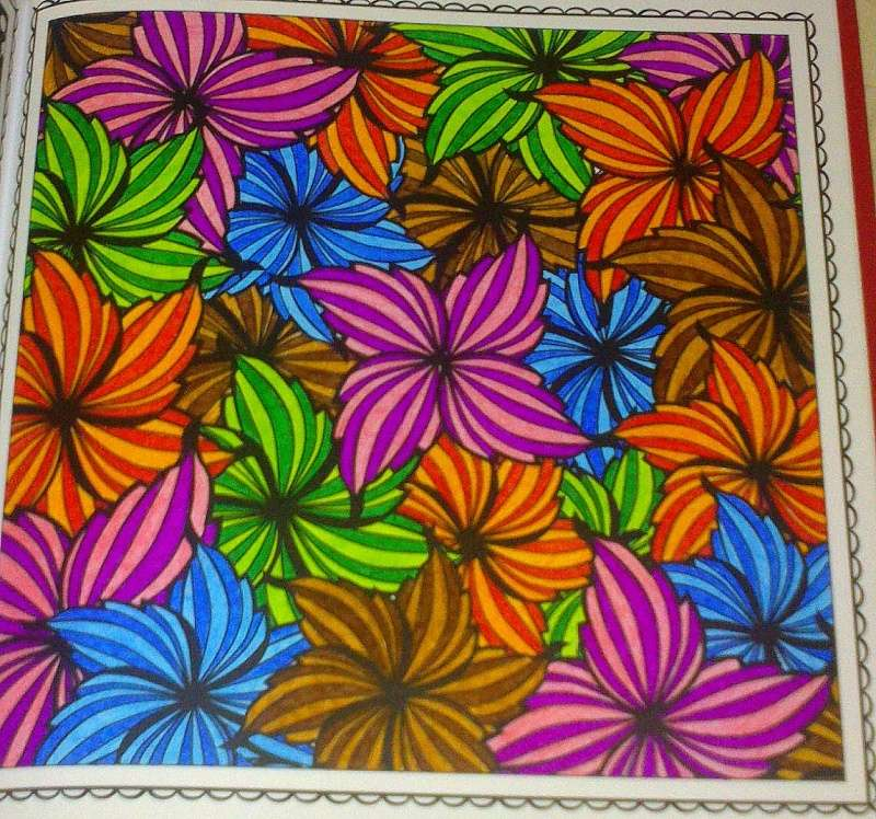 coloriage anti stress deja colorier