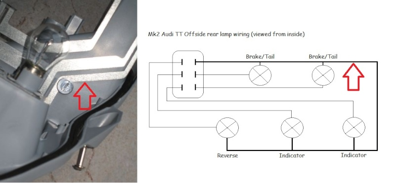 It Shows The Runs Of Earth Conductor That Is Mon To All Bulbs Which May Explain Why 'yellow Wire' Doesn't Go Bulb With Problem: Audi Tt Turn Signal Wiring Diagram At Aslink.org
