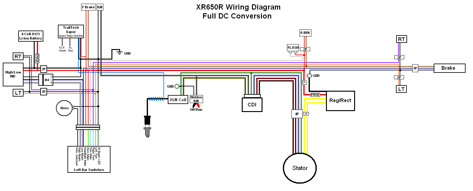 01 Honda 400ex Colored Wiring Diagram Library Ignition