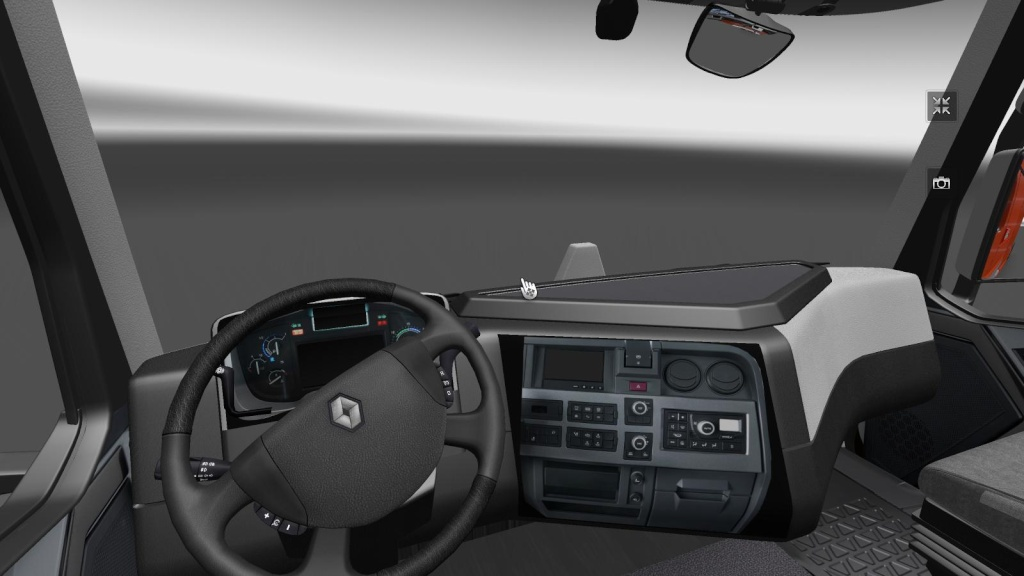 Camions tester renault range t for Interieur camion renault t