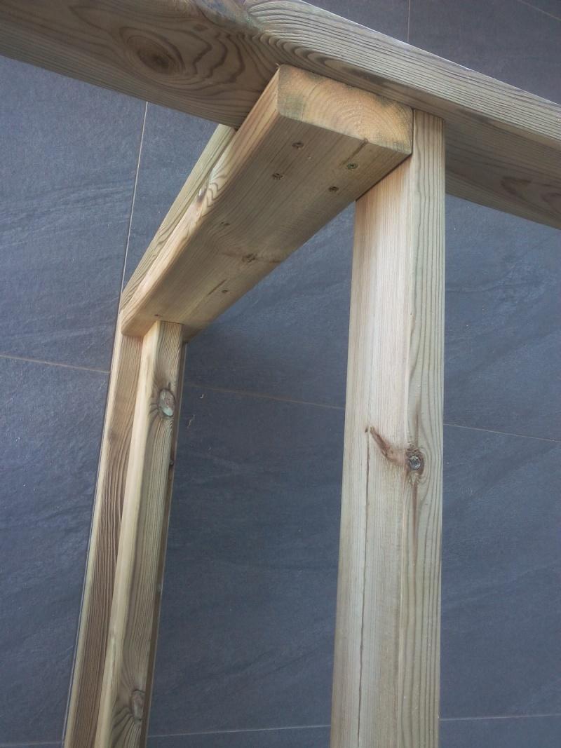 termine fabrication table en bois peint polycarbonate pour terrasse. Black Bedroom Furniture Sets. Home Design Ideas
