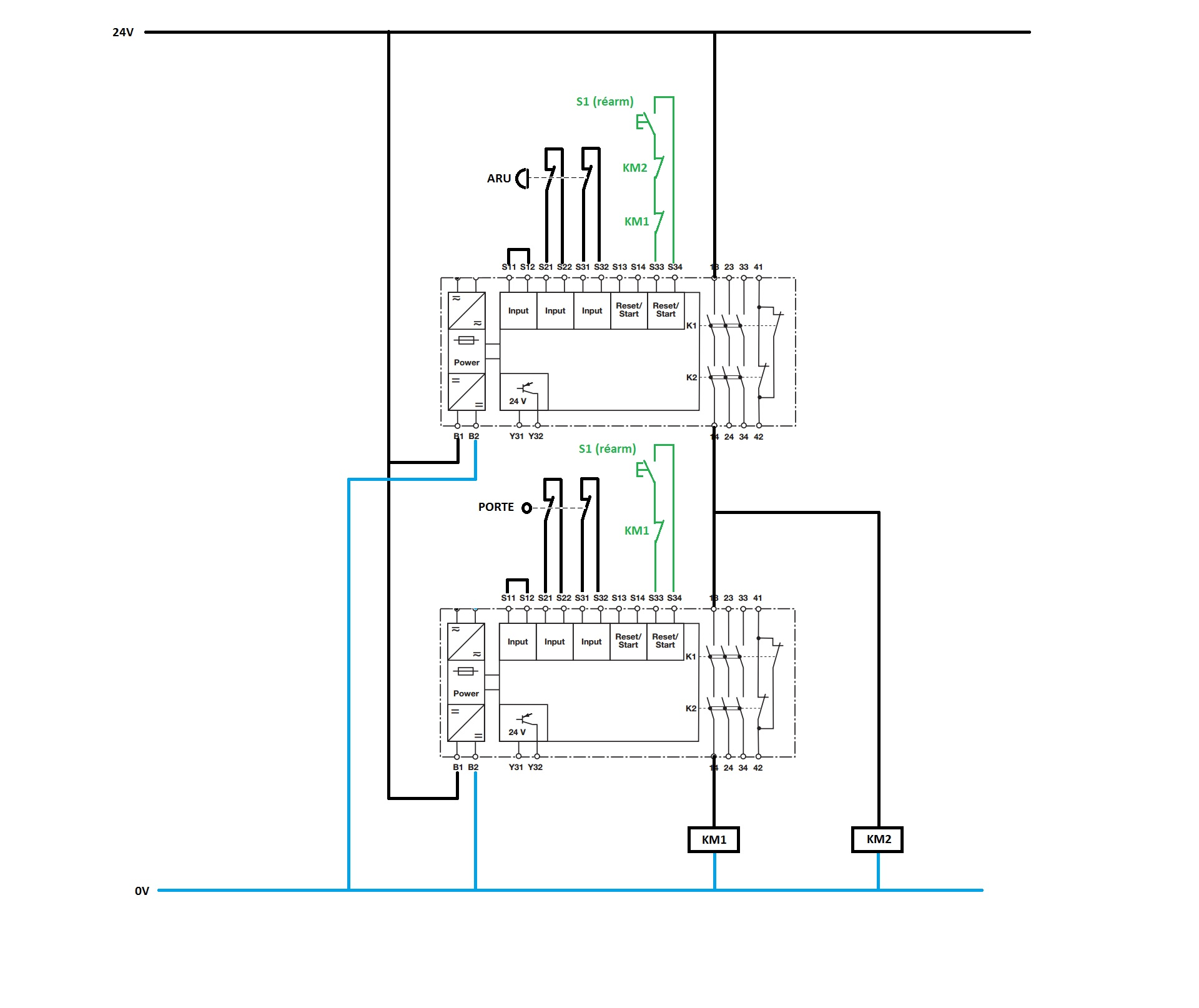 diagram of wiring with T6181 Mise En Serie De Plusieurs Relais De Secu Et Gestion Boucle De Retour Des Km on Valvestate moreover presor Copeland 24btu Piston T1429636 as well SXdqZn further 557093 Installing Light Fixture Neutral Wire Hot in addition Misc.