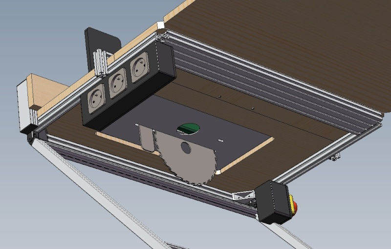 Electro portatifs sous table d 39 inspiration festool - Table pour scie circulaire portative ...